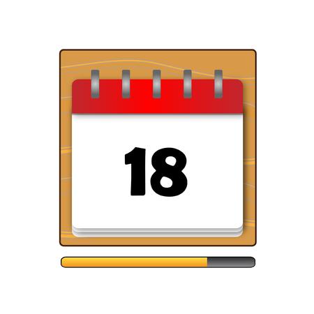 days: The Eighteen days in a calendar Illustration