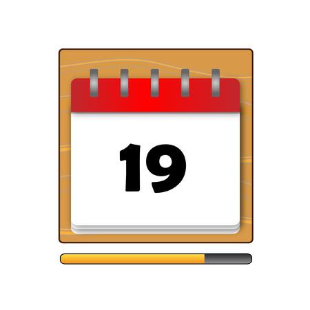 days: The nineteen days in a calendar