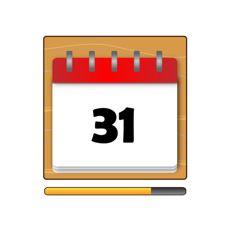 days: The Thirty-one days on the calendar
