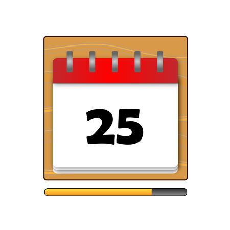 days: The Twenty-five days on the calendar Illustration