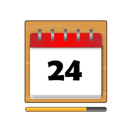 days: The Twenty-four days on the calendar