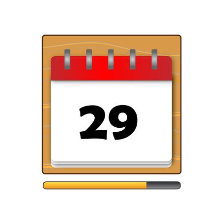 days: The Twenty-nine days on the calendar