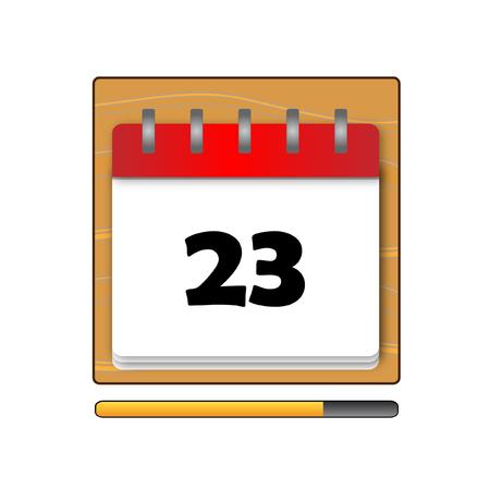 days: The Twenty-three days on the calendar