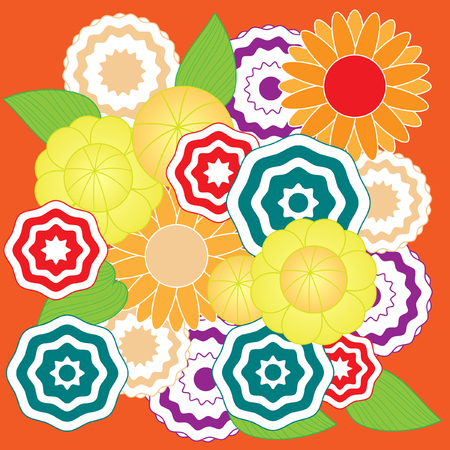 springtime: Springtime colorful flower  pattern vector
