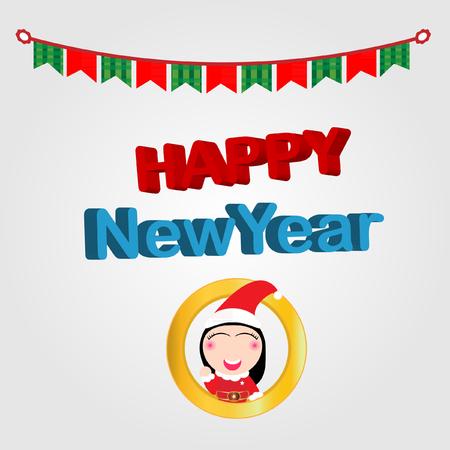 year: New year Illustration