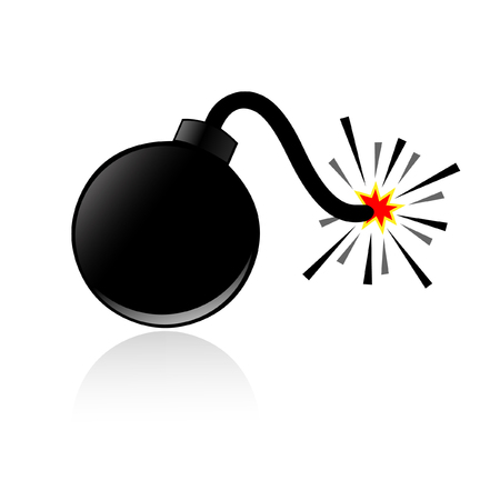 bomb: Bomb and shadow vector