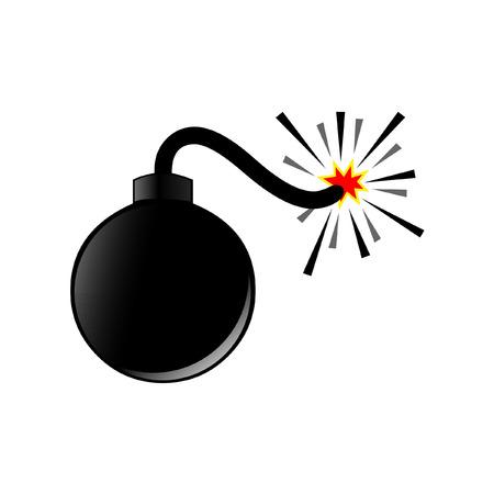 bomb: Bomb vector Illustration