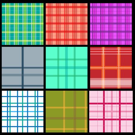Sammlung von Plaid-Muster Standard-Bild - 83177041