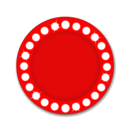 Show light circle red background Illustration