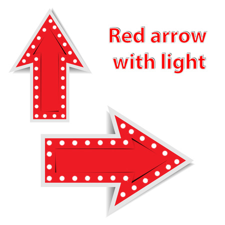red arrows with light on white background