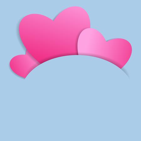 Cutout heart paper design Ilustracja