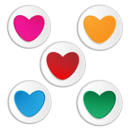 Cutout heart paper