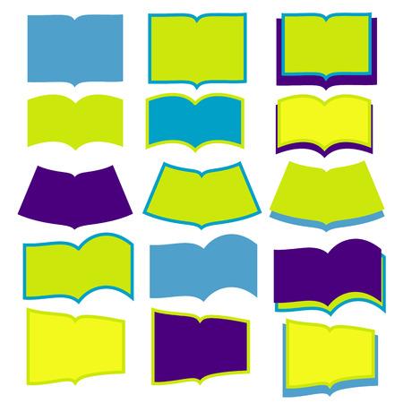 Open books on white background Ilustracja