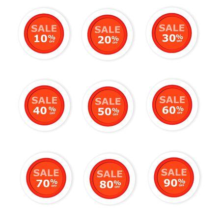 Circular paper labels red discount