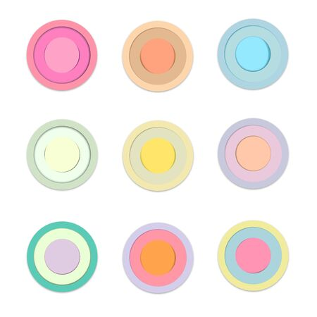 Circle of colored paper with shadow