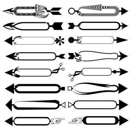 Set of arrows icon on a white background Ilustracja
