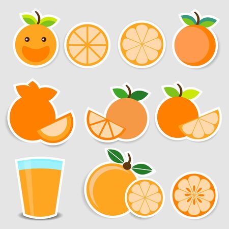 Cute orange sticker set