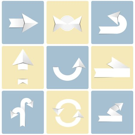 Arrow sign icon set Ilustrace