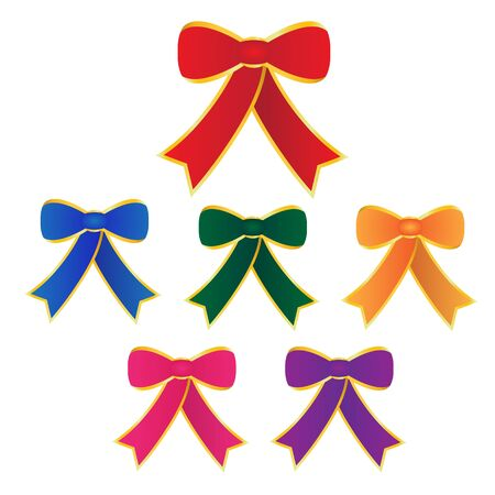 Colorful bow on white background