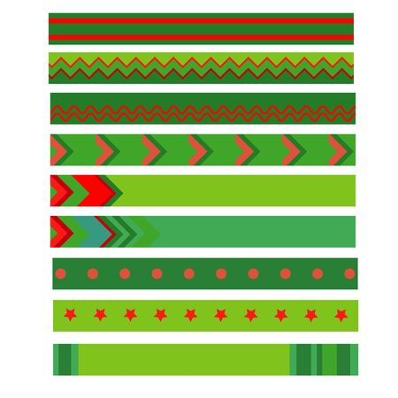 Colorful christmas ribbon on white background