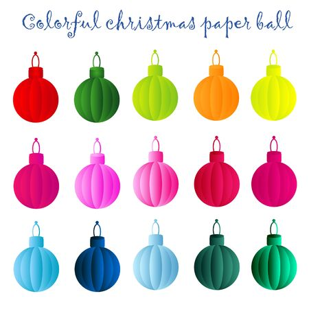Colorful christmas paper ball