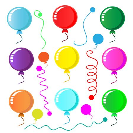 Party balloon on white background