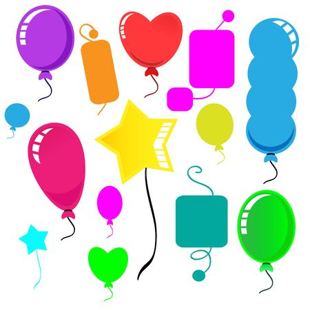 cute balloon bright and colorful Ilustrace