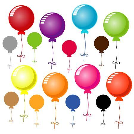 Ballons auf weiß