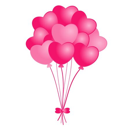 cute heart shaped balloon bouquet