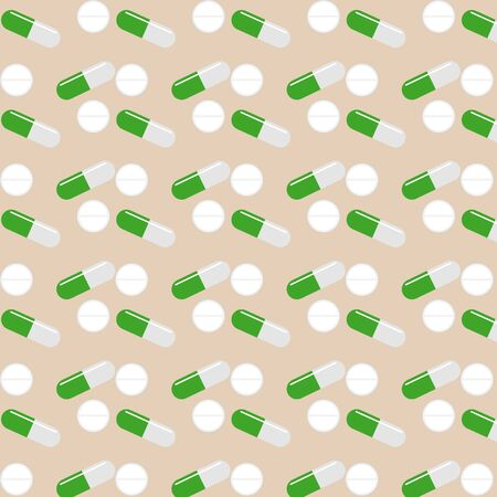 Cute drug pattern on white background Ilustrace
