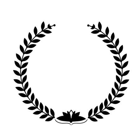 Laurel wreath on white background Vettoriali