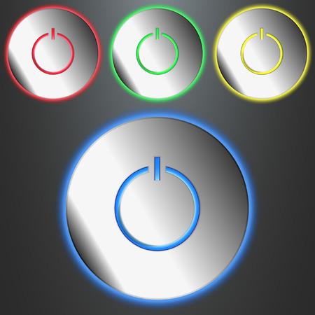 Luminous Buttons Power Vector