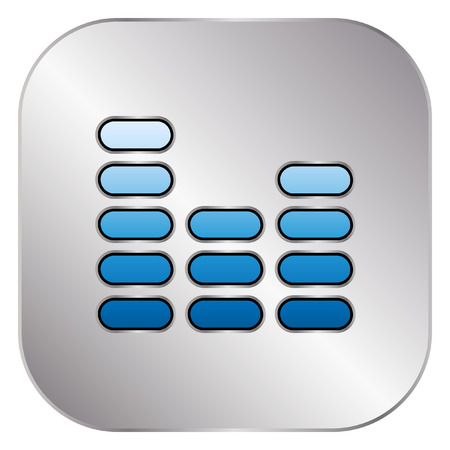 silver: Equalizer icon - Silver Button