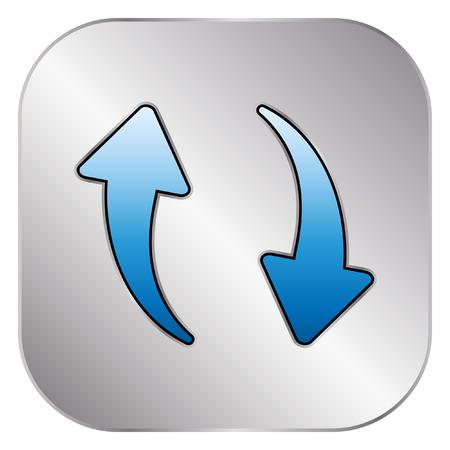 repeat: Repeat icon - Silver Button Illustration