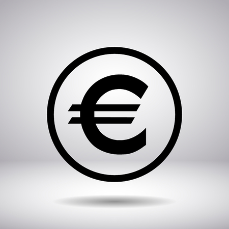 euro sign: Euro sign in a circle