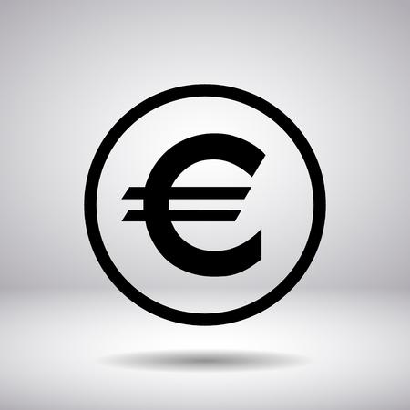 sign in: Euro-Zeichen in einem Kreis Illustration