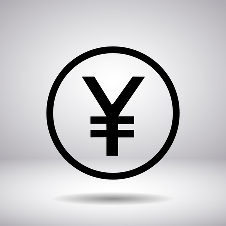 yen sign: Japanese Yen sign in a circle