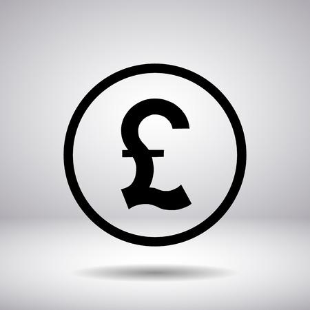 sign in: Pfund-Zeichen in einem Kreis Illustration