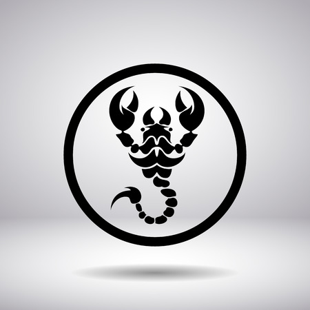 scorpion: Silhouette of a scorpion in a circle