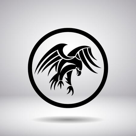 aigle: Silhouette de l'aigle dans un cercle Illustration