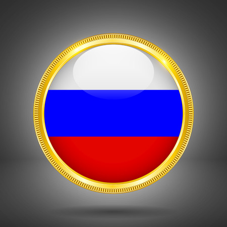 gilding: Flag of Russia in GOLD