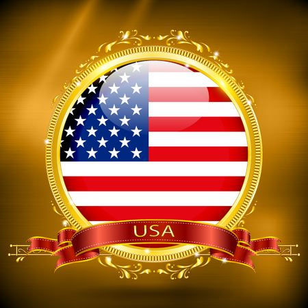gilding: Flag of USA in GOLD