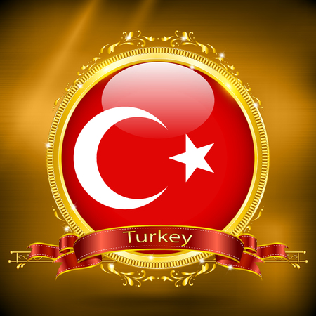 gilding: Flag of Turkey in GOLD
