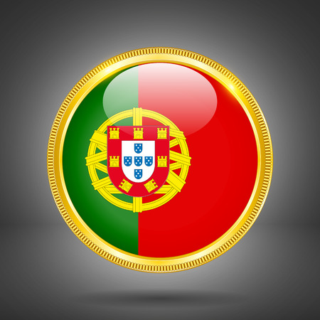 gilding: Flag of Portugal in GOLD