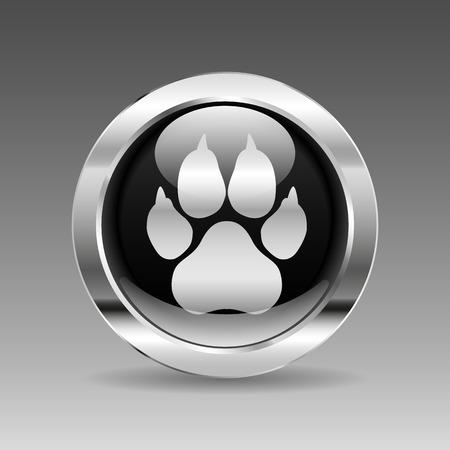 spoor: Black glossy chrome button - Spoor Illustration