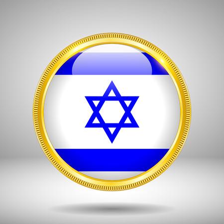 israelite: Flag of Israel in GOLD