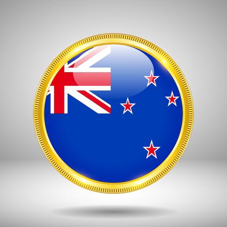 bandera de nueva zelanda: Bandera de Nueva Zelanda en ORO