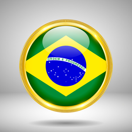 gilding: Flag of Brazil in GOLD