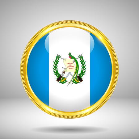 gilding: Flag of Guatemala in GOLD, vector illustration Illustration