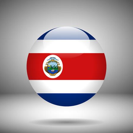 costa: Round flag of Costa Rica, vector illustration Illustration